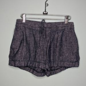 Old Navy blue linen shorts with elastic band